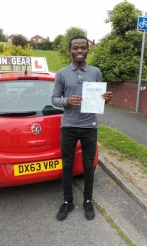 Kennedy Moghere passed on 250516 with Phil Hudson Well done